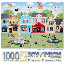 Dog Lover's Lane 1000 Piece Jigsaw Puzzle