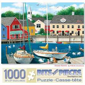 Swans Haven 1000 Piece Jigsaw Puzzle