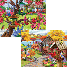 Rustic Gardens 1000 Piece 4-in-1 Multi-Pack Puzzle Sets