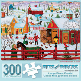 The Old Farm In Winter 300 Large Piece Jigsaw Puzzle