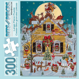 A Visit from St. Nick 300 Large Piece Jigsaw Puzzle