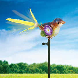 Bird Feathers Wind Garden Spinner
