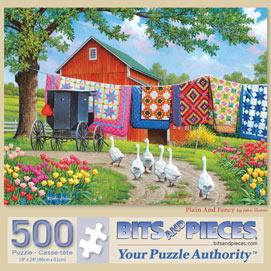 Plain And Fancy 500 Piece Jigsaw Puzzle