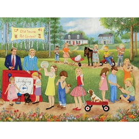 Old Town Pet Contest 300 Large Piece Jigsaw Puzzle