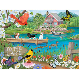 To The Lake 300 Large Piece Jigsaw Puzzle