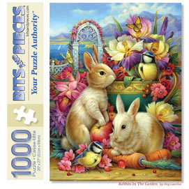 Rabbits In The Garden 1000 Piece Jigsaw Puzzle