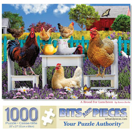 A Brood For Luncheon 1000 Piece Jigsaw Puzzle
