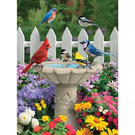 Summer Garden Friends 300 Large Piece Jigsaw Puzzle
