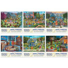 Set of 6: Christine Carey 1000 Piece Jigsaw Puzzles