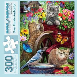 Kittens On A Wheelbarrow 300 Large Piece Jigsaw Puzzle