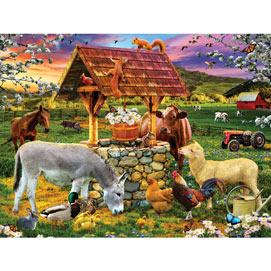 Wishing Well 500 Piece Jigsaw Puzzle