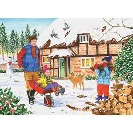 Grandad's Garden Fetching Logs 500 Piece Jigsaw Puzzle