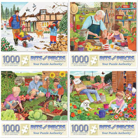 Set of 4: Tracy Hall 1000 Piece Jigsaw Puzzles
