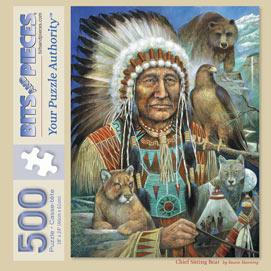 Chief Sitting Bear 500 Piece Jigsaw Puzzle