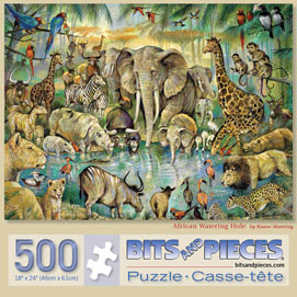 African Watering Hole 500 Piece Jigsaw Puzzle