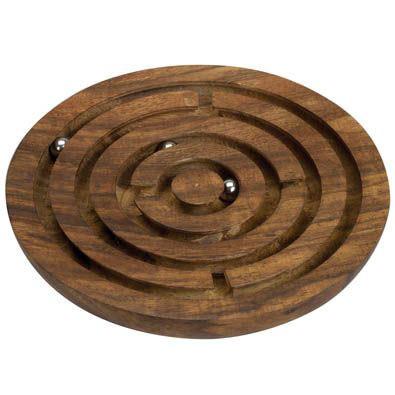 Circular Wooden Maze Brainteaser