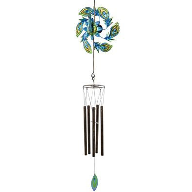 Peacock Spinner Wind Chime