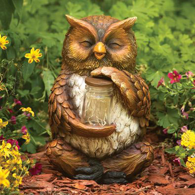 Owl & Fireflies Jar