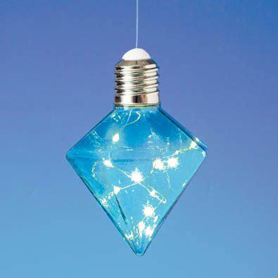 Hanging LED Diamond Light Bulb - Blue