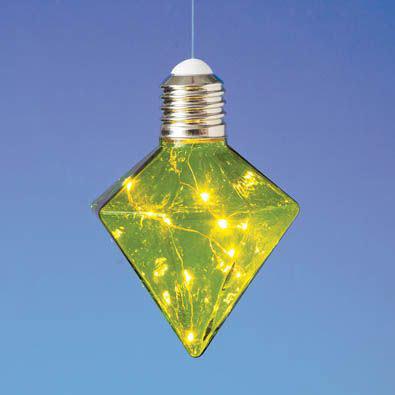 Hanging LED Diamond Light Bulb - Green