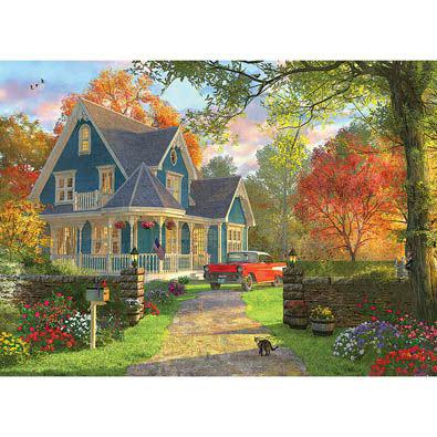 Blue House 1000 Piece Jigsaw Puzzle