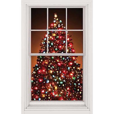 Christmas Tree Window Cling