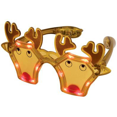 LED Flashing Reindeer Glasses