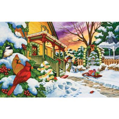 Winter Evening 100 Large Piece Jigsaw Puzzle