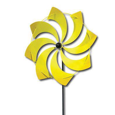 Yellow Pinwheel Stake