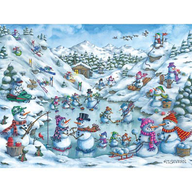 Fun At Snow Mountain 300 Large Piece Jigsaw Puzzle