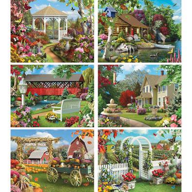 Set of 6: Alan Giana 500 Piece Jigsaw Puzzles
