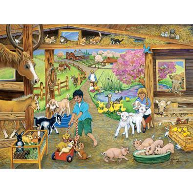 Barnyard Babies 300 Large Piece Jigsaw Puzzle