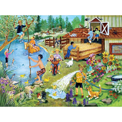 Summer Fun On The Farm 300 Large Piece Jigsaw Puzzle