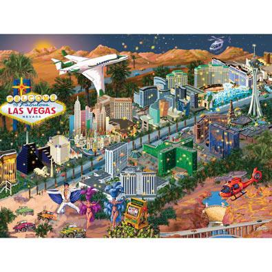 Las Vegas 1000 Piece Jigsaw Puzzle Bits And Pieces