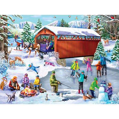 Winter Frolic 300 Large Piece Jigsaw Puzzle