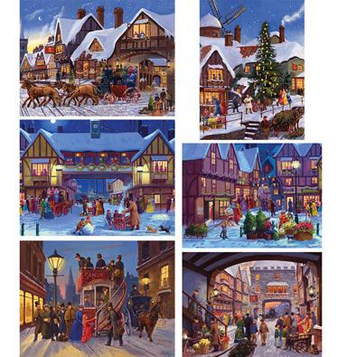 Set of 6: Finlay 300 Large Piece Jigsaw Puzzles