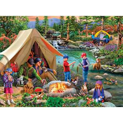 Camping At Summers End 300 Large Piece Jigsaw Puzzle
