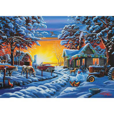 Country Christmas 1000 Piece Jigsaw Puzzle