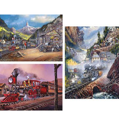 Set of 3: Ted Blaylock 750 Piece Jigsaw Puzzles