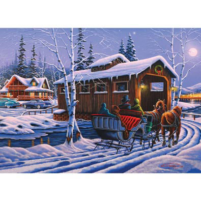 Romantic Christmas 1000 Piece Jigsaw Puzzle
