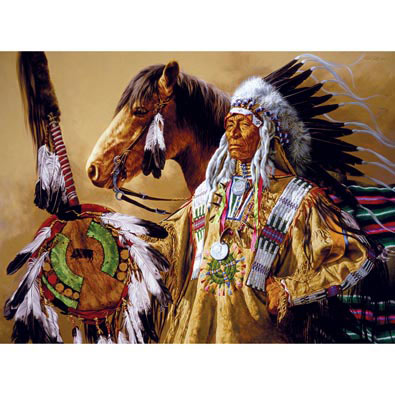 Chief High Pipe 1000 Piece Jigsaw Puzzle