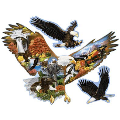 Soaring Eagle 750 Piece Shaped Jigsaw Puzzle
