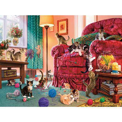 Naughty Kittens 550 Piece Jigsaw Puzzle