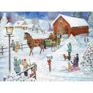 Christmas Sleigh Ride 1000 Piece Jigsaw Puzzle