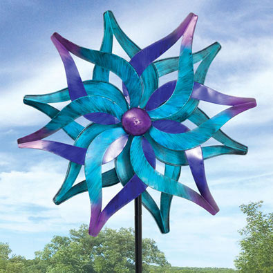 Blue Delphinium Wind Spinner