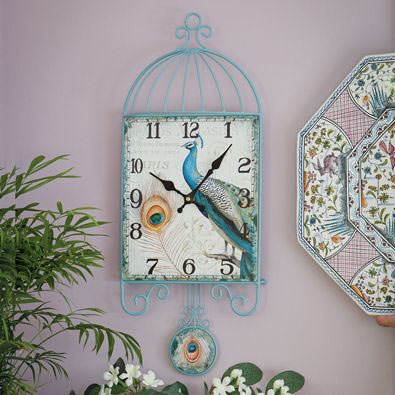 Peacock Pendulum Wall Clock