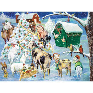 Holiday Farm 1000 Piece Jigsaw Puzzle