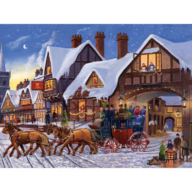 Christmas Eve Express 500 Piece Jigsaw Puzzle