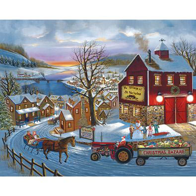 Santa's On His Way 300 Large Piece Jigsaw Puzzle