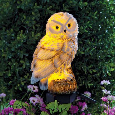 Solar Owl Stake Light
